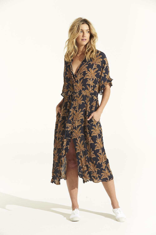 One Season Jasmine Dress - Palma Navy SALE WAS £129