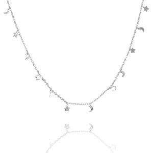 Necklace - Stars & Moons Silver NG-29/S