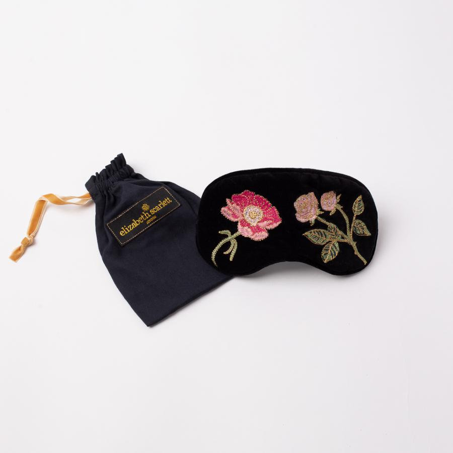 Elizabeth Scarlett - Eye Mask British Blooms Black Velvet
