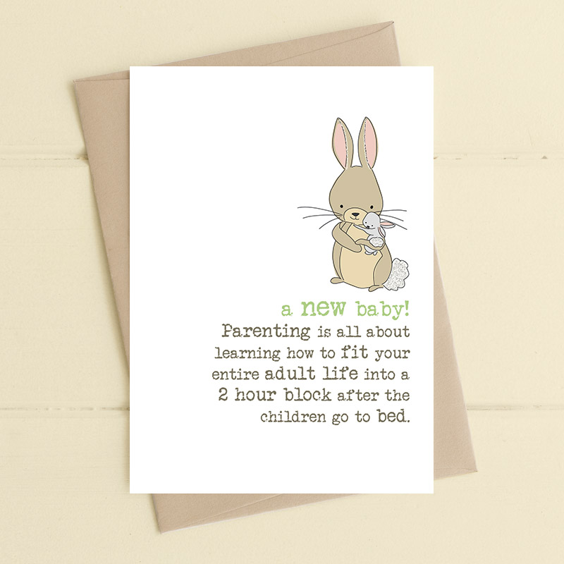 Card Baby Unisex - Parenting Bunny Dandelion 654