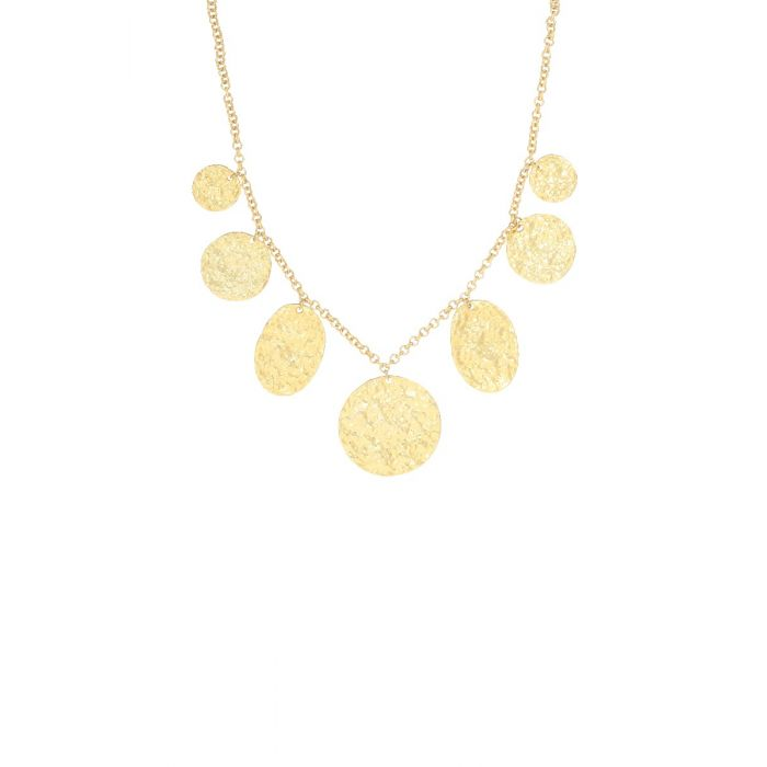 Ashiana Necklace - Harmonia Discs Short Gold Plate
