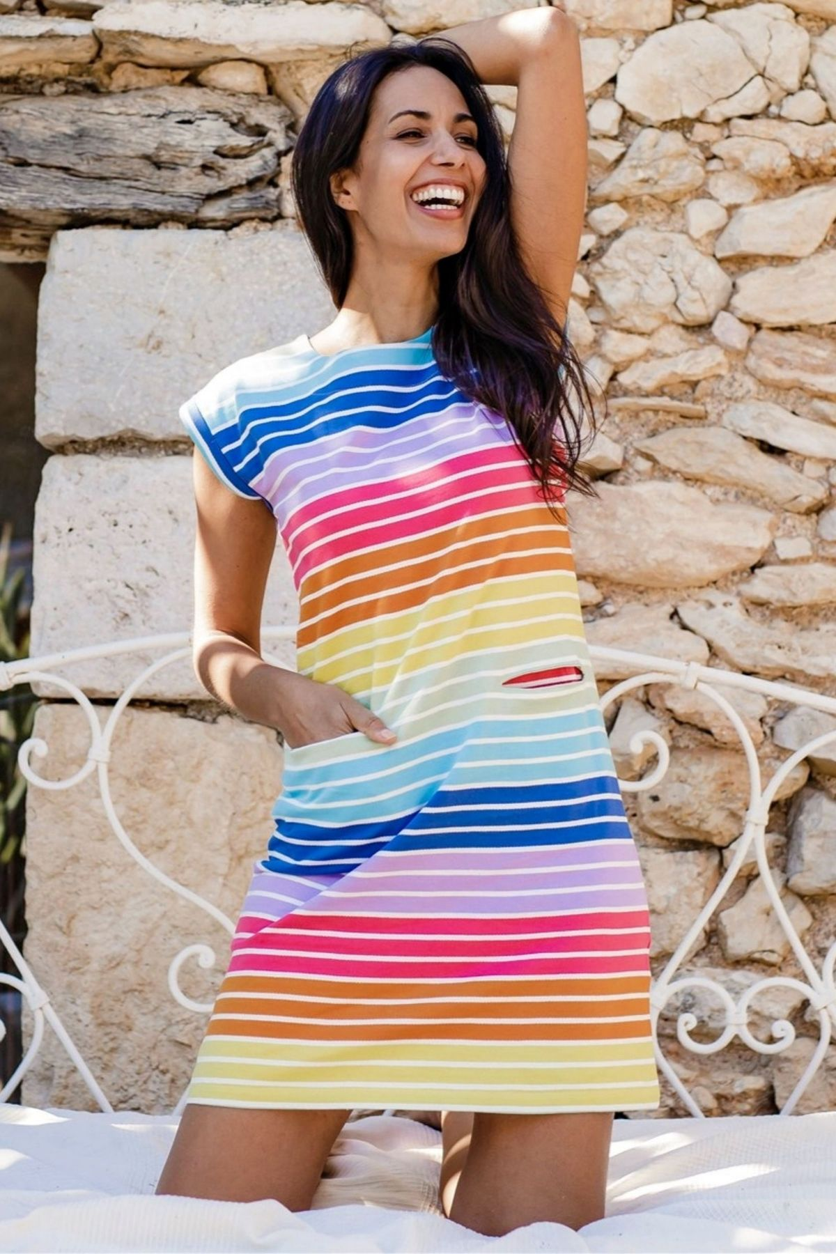 Sugarhill Brighton - Odette Dress Daylight Stripe