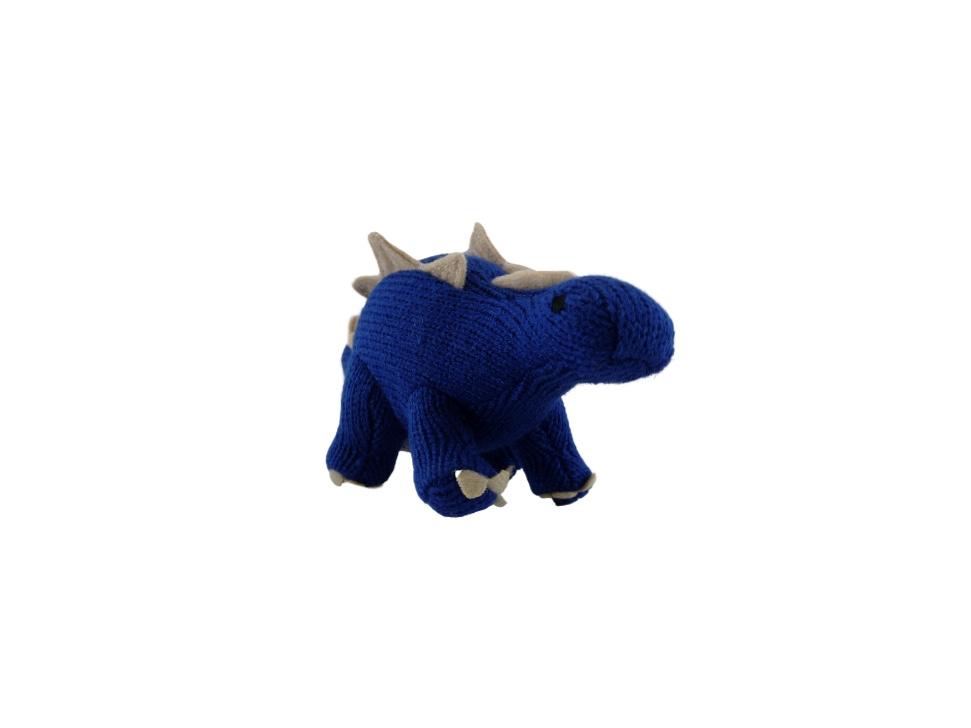 Dinosaur Rattle - Stegosaurus Blue