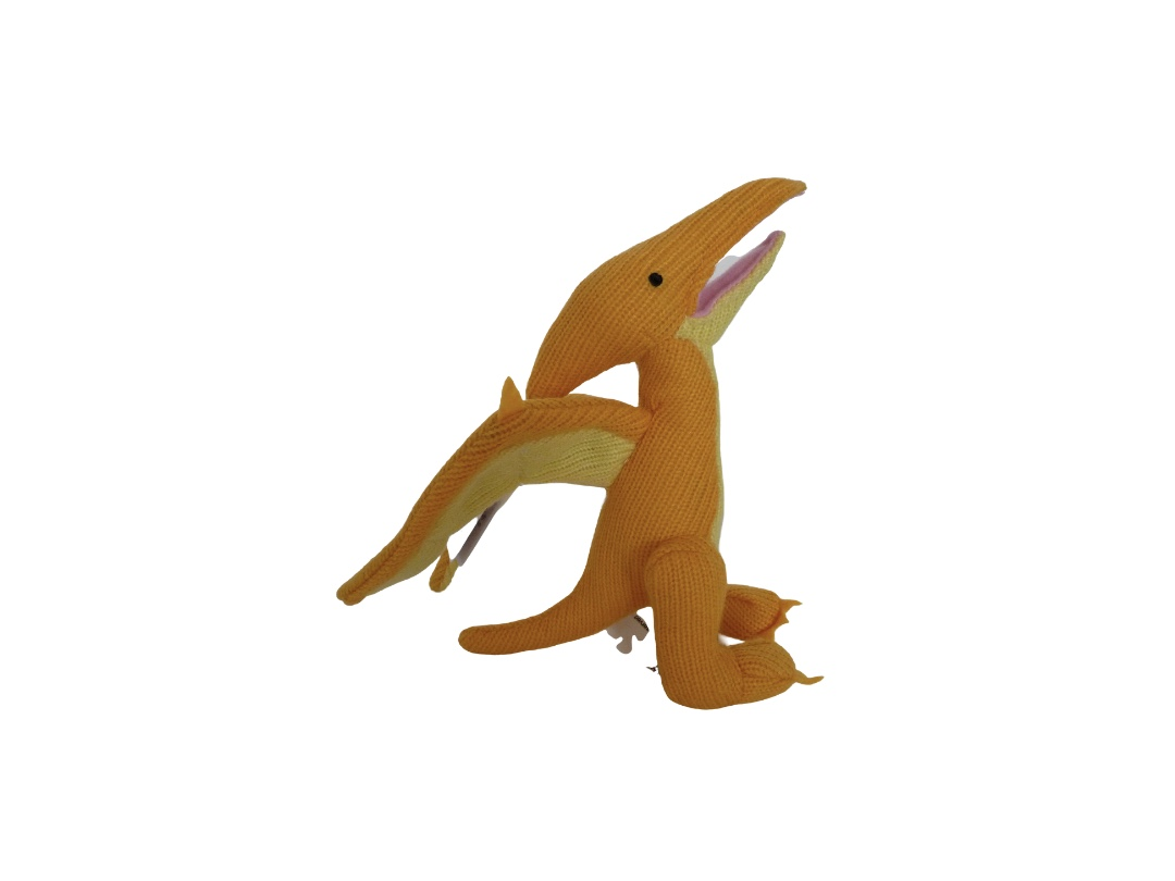 Dinosaur Rattle - Pterodactyl Yellow