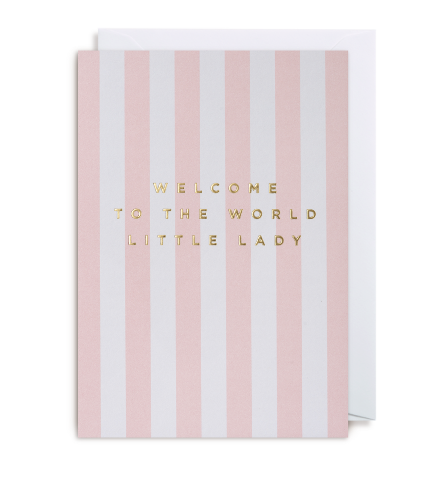 Card Baby Girl Lagom - Welcome Little Lady Stripe 1311