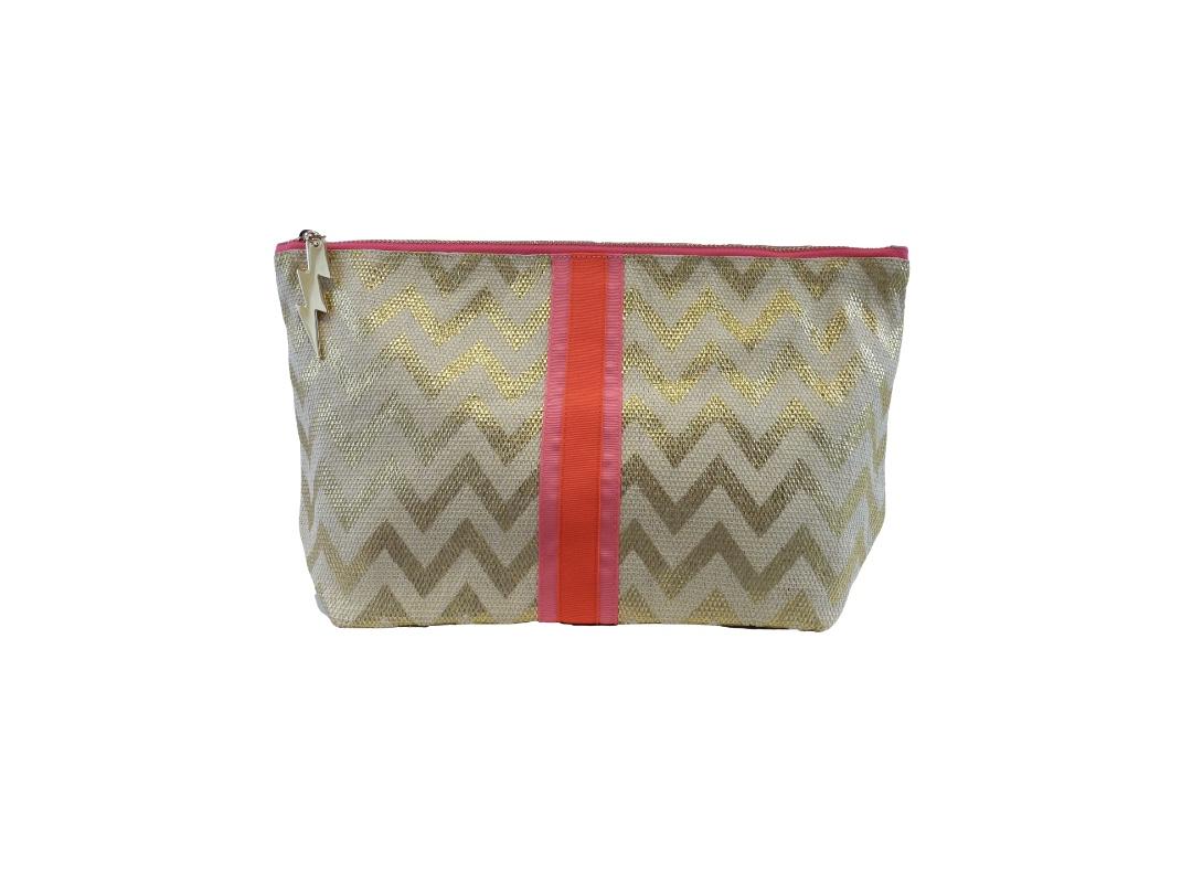 Cockatoo Bag - Zigzag Gold Large