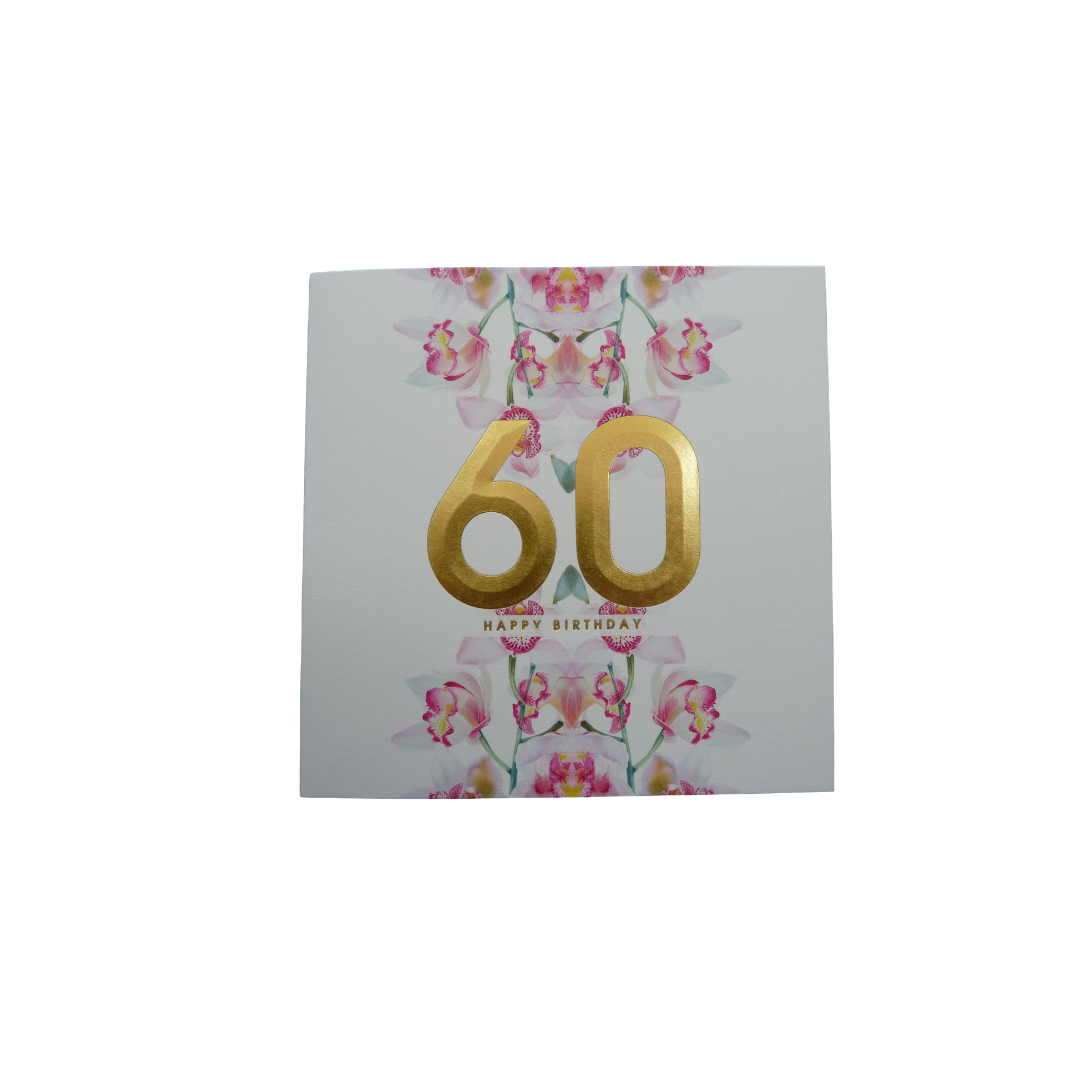Card Age 60 Female - 60 Floral - Lola SN388