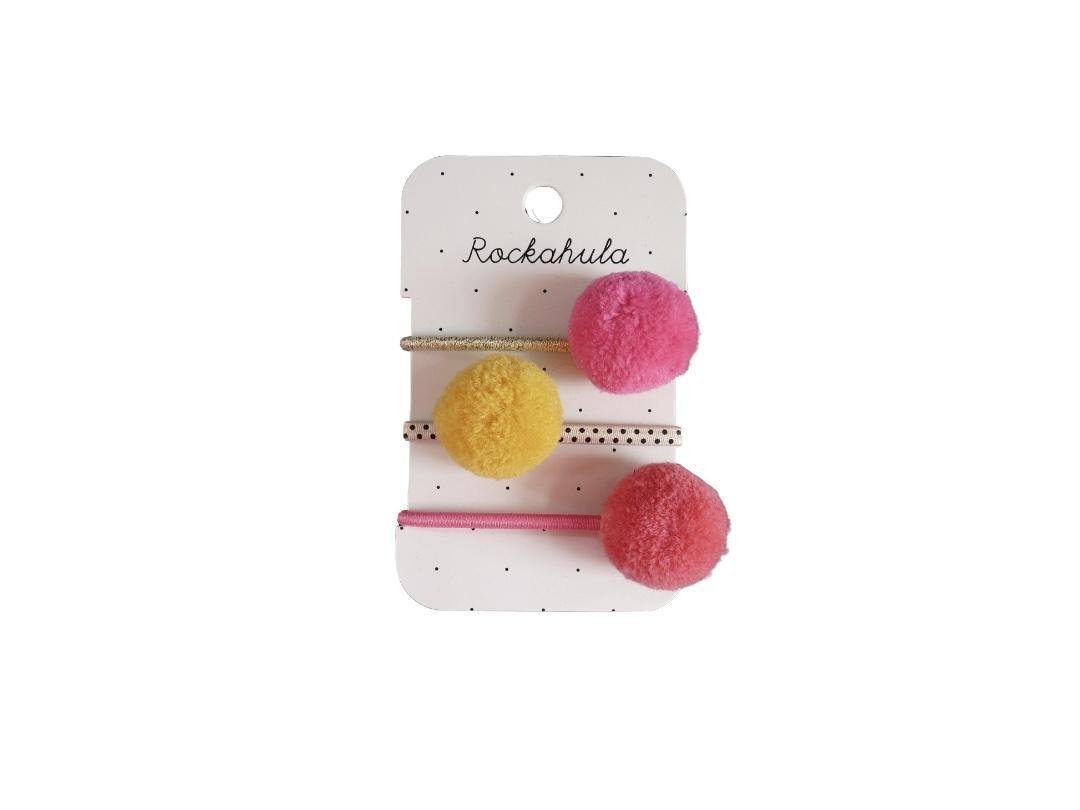 Rockahula Ponies - Pom Pom ( Pink, Yellow, Coral)