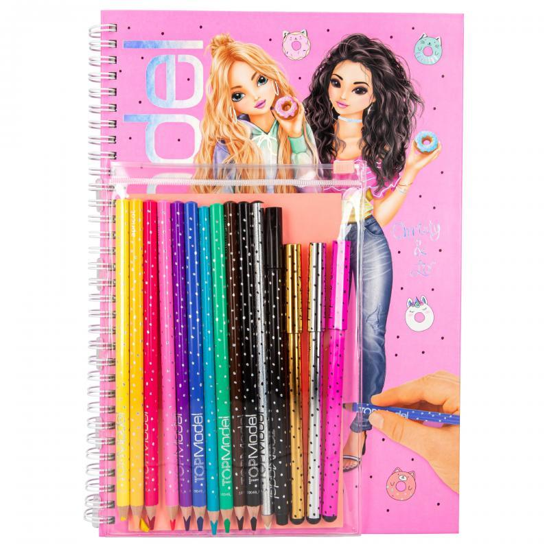 Top Model Colouring & Sticker Book with Pencils