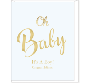 Card Baby Boy - Oh Baby - Hearts Design OH19