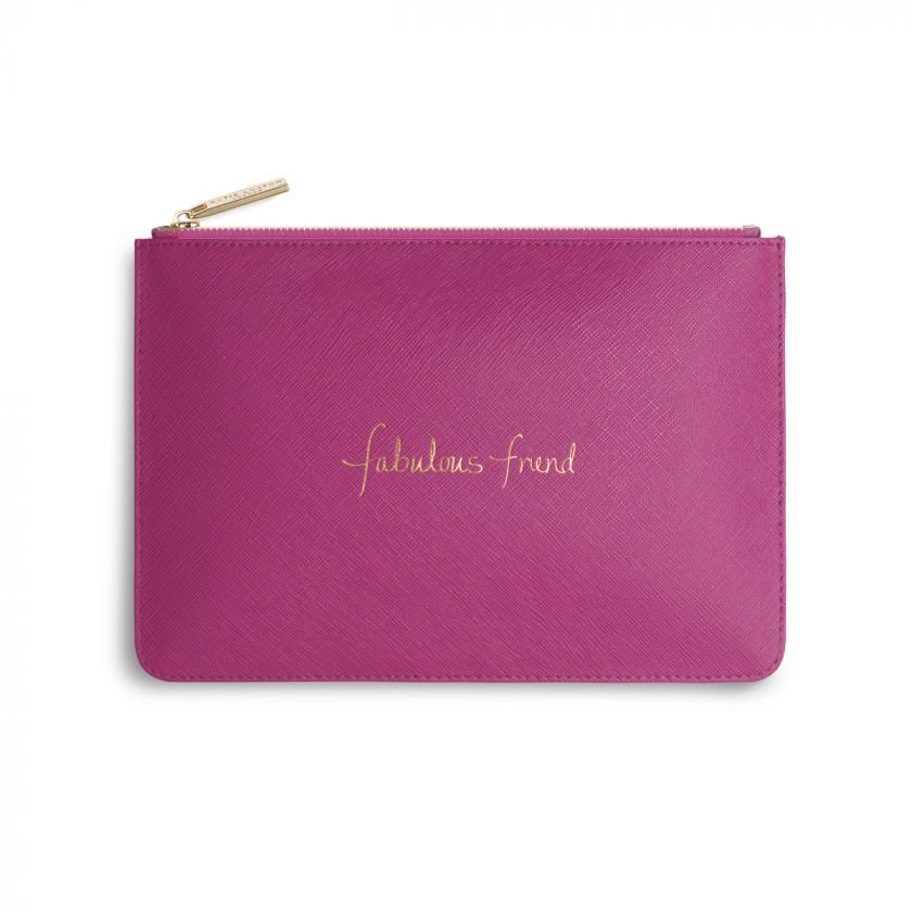Katie Loxton Perfect Pouch - 'Fabulous Friend' Cerise