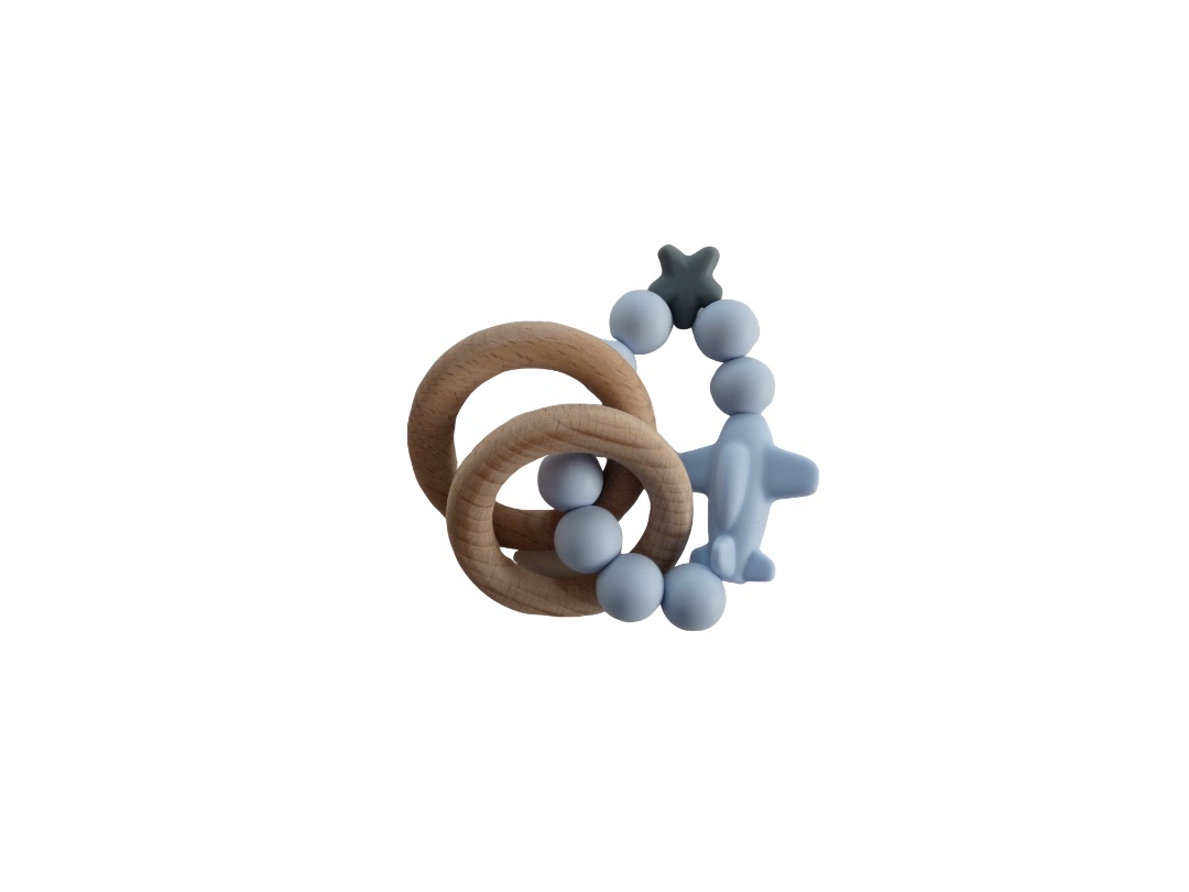 Rattle Ring - Blue Jet Set