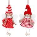Gisela Graham Christmas Decoration Nordic - Single Fairy Red