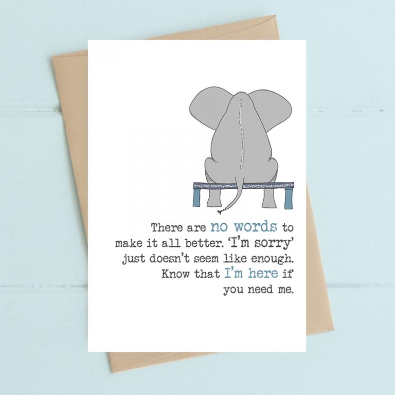 Card Thinking Of You Dandelion - I'm Here If You Need Me (Elephant) 533