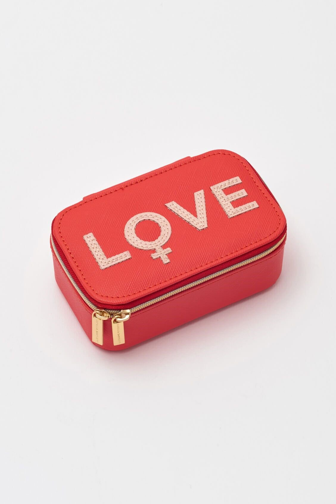 Estella Bartlett Jewellery Box Mini - Applique 'LOVE' Coral/Blush
