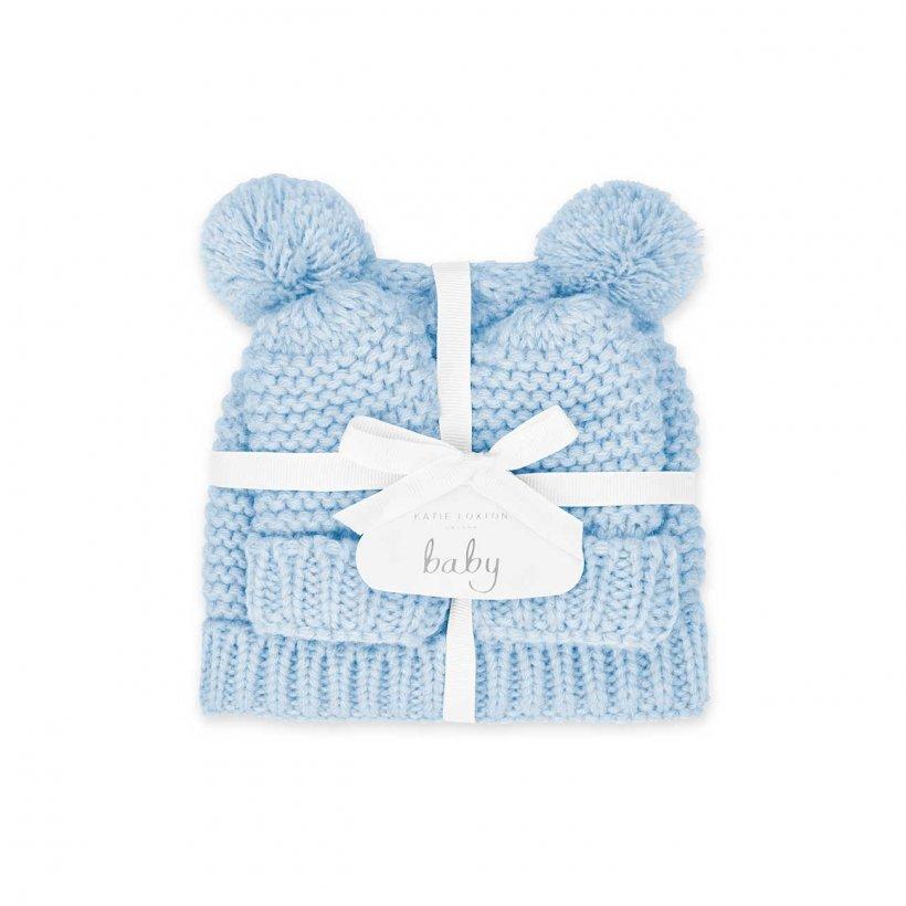 Katie Loxton Baby Hat & Mittens Set 0-6 Months Blue