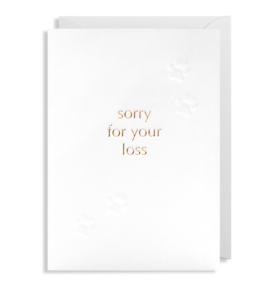 Card Sympathy Lagom - Sorry For Your Loss Paw Print 6301