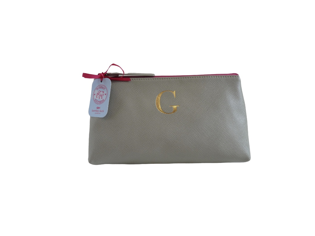 Bombay Duck Alphabet Make Up Bag - G