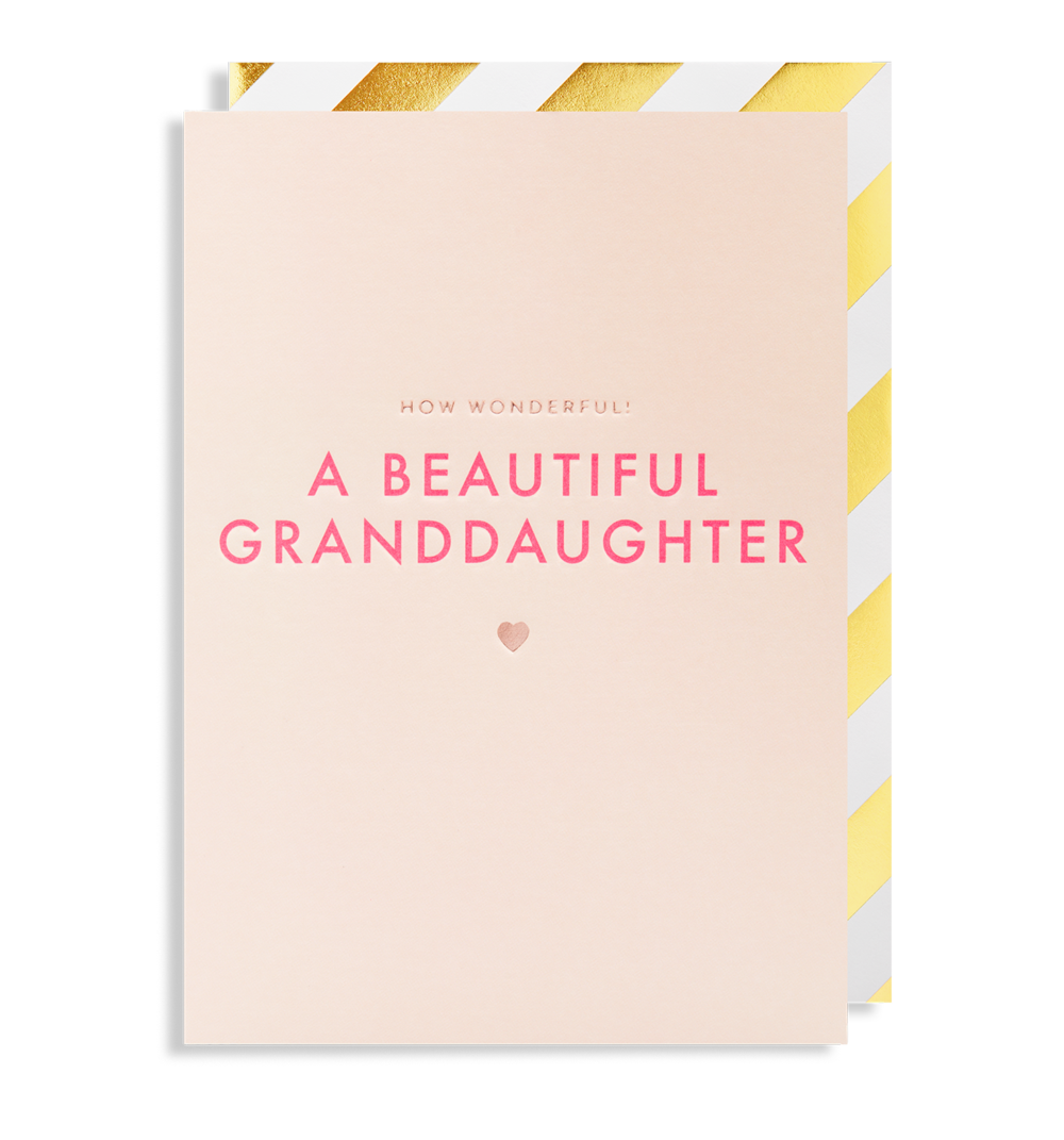 Card Baby Granddaughter Lagom - How Wonderful 6079