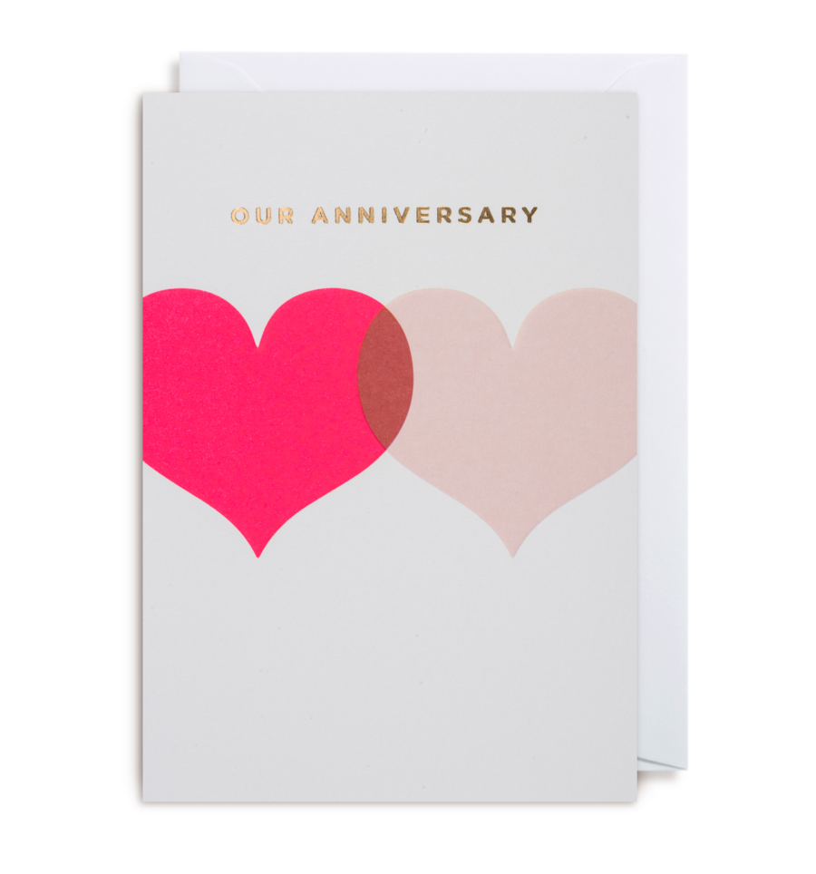 Card Anniversary Lagom - Our Anniversary Hearts 1415