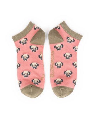 Powder Trainer Socks - Pug candy L