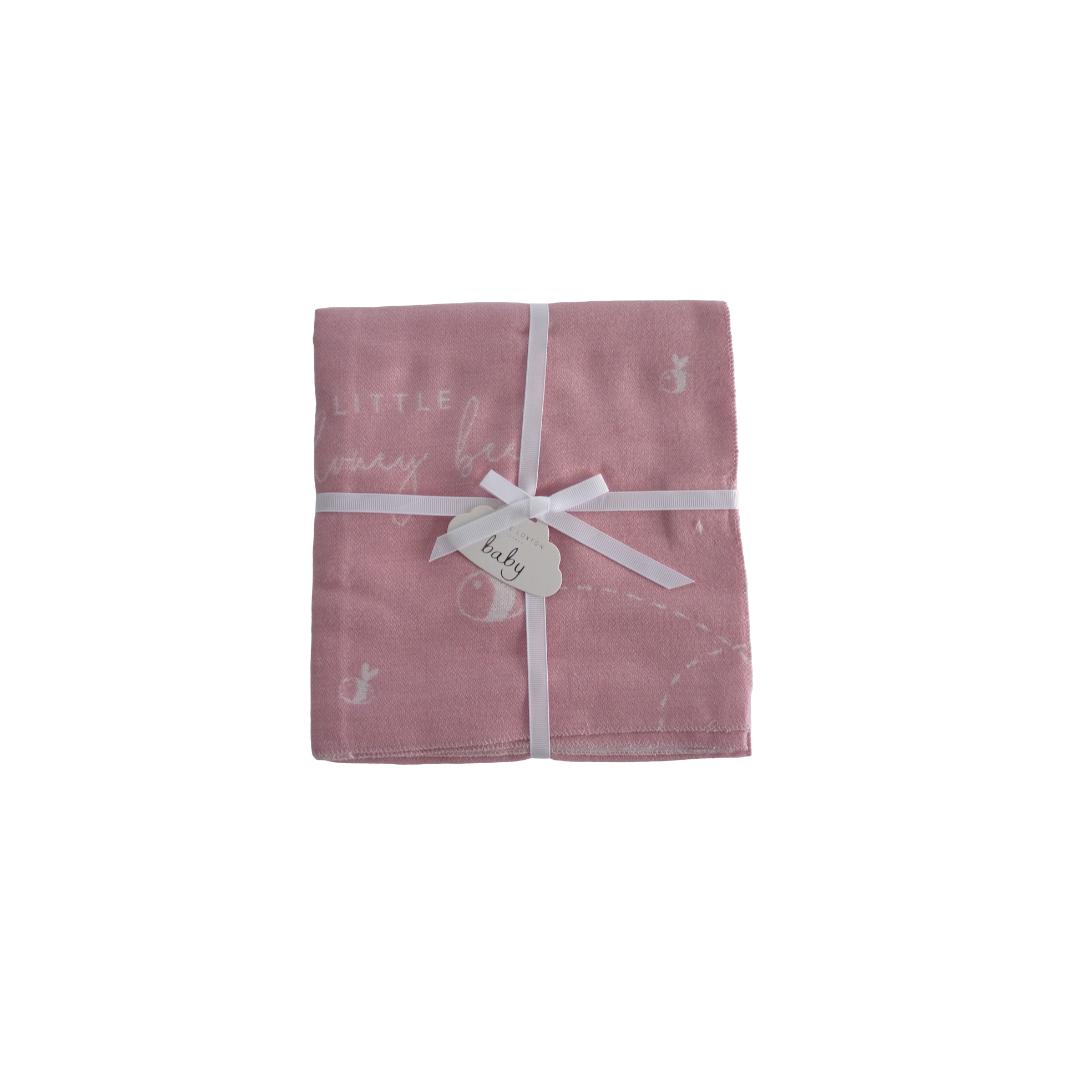 Katie Loxton Baby Blanket - Pink 'My Little Honey-Bee'