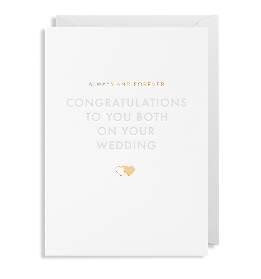Card Wedding Lagom - Congratulations to you Both 6169