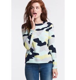 Lisa Todd Sweater - Summer Camo Navy Lime