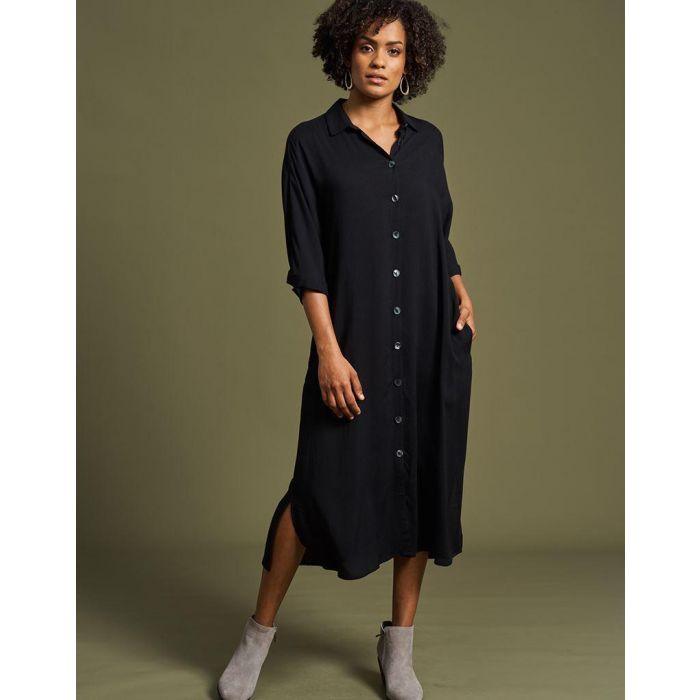 SALE Eb&Ive Mahala Shirt Dress - Onyx WAS £62