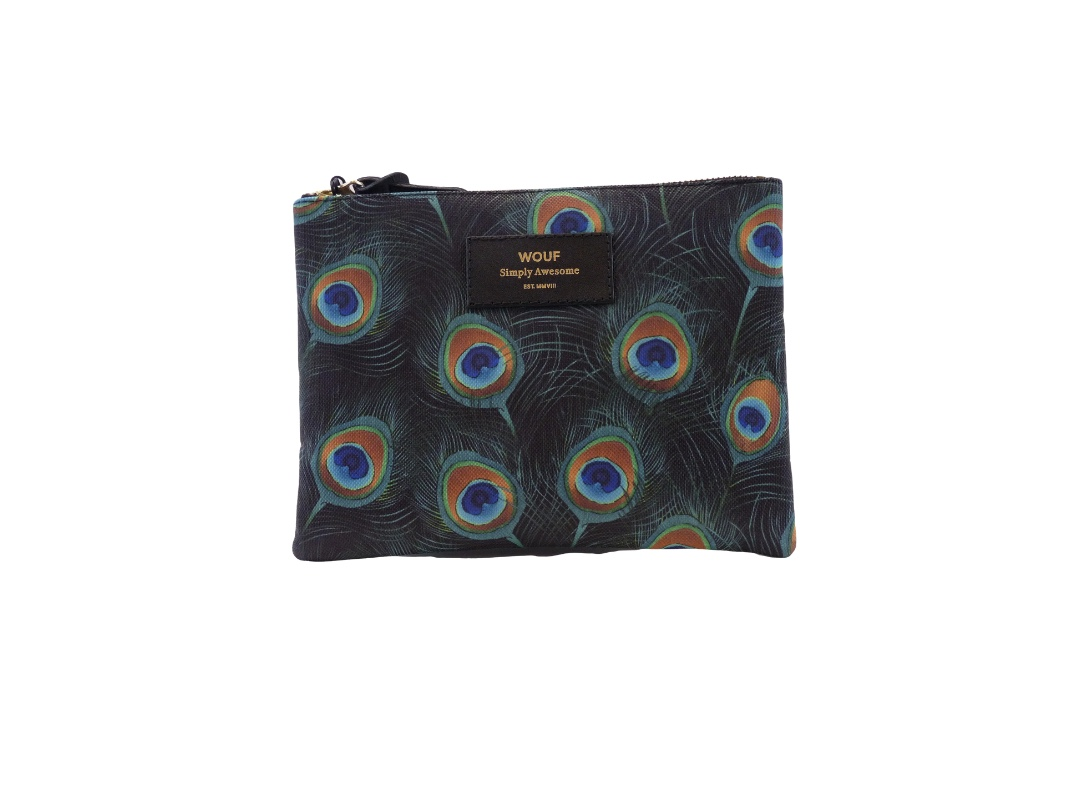 Wouf Pouch - Peacock Large