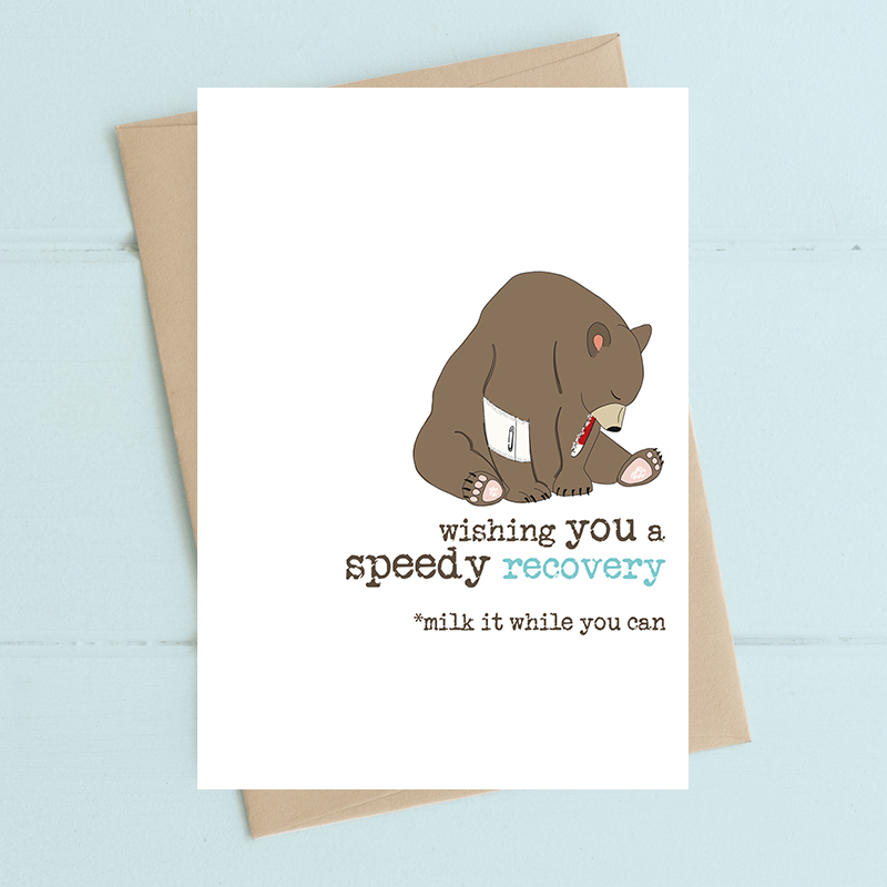 Card Get Well Dandelion - Speedy Recovery 422