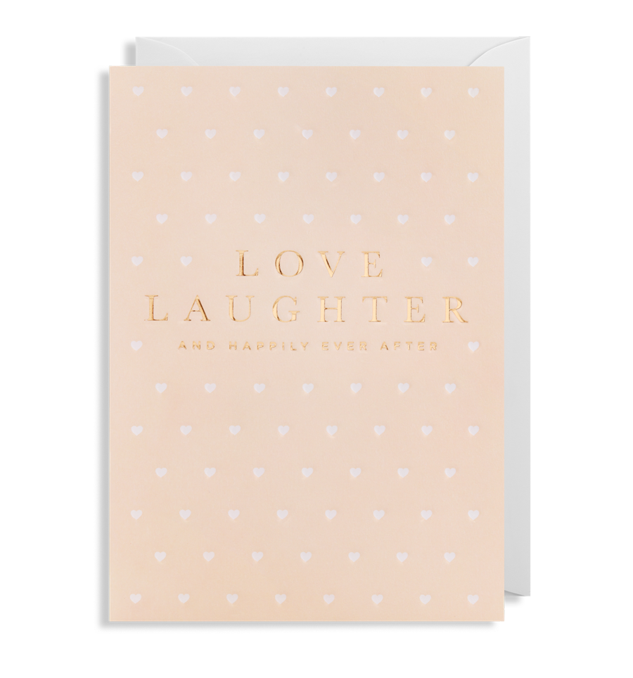 Card Wedding Lagom - Love Laughter Happily Ever After 6295