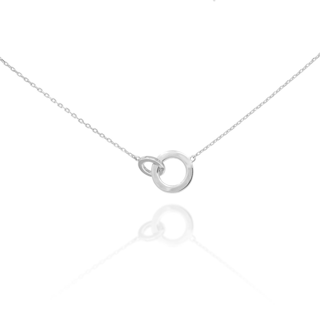 Connected Circle Bracelet - Silver BG-3/S