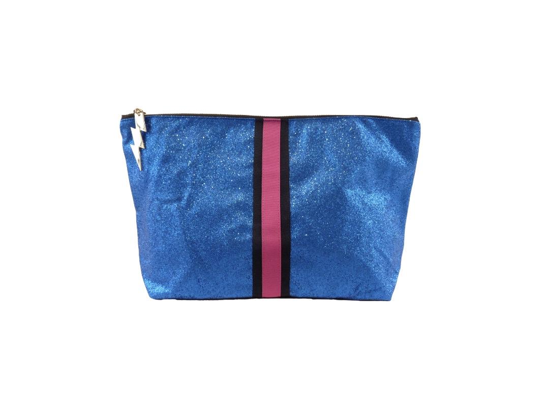 Cockatoo Glitter Bag - Blue Large