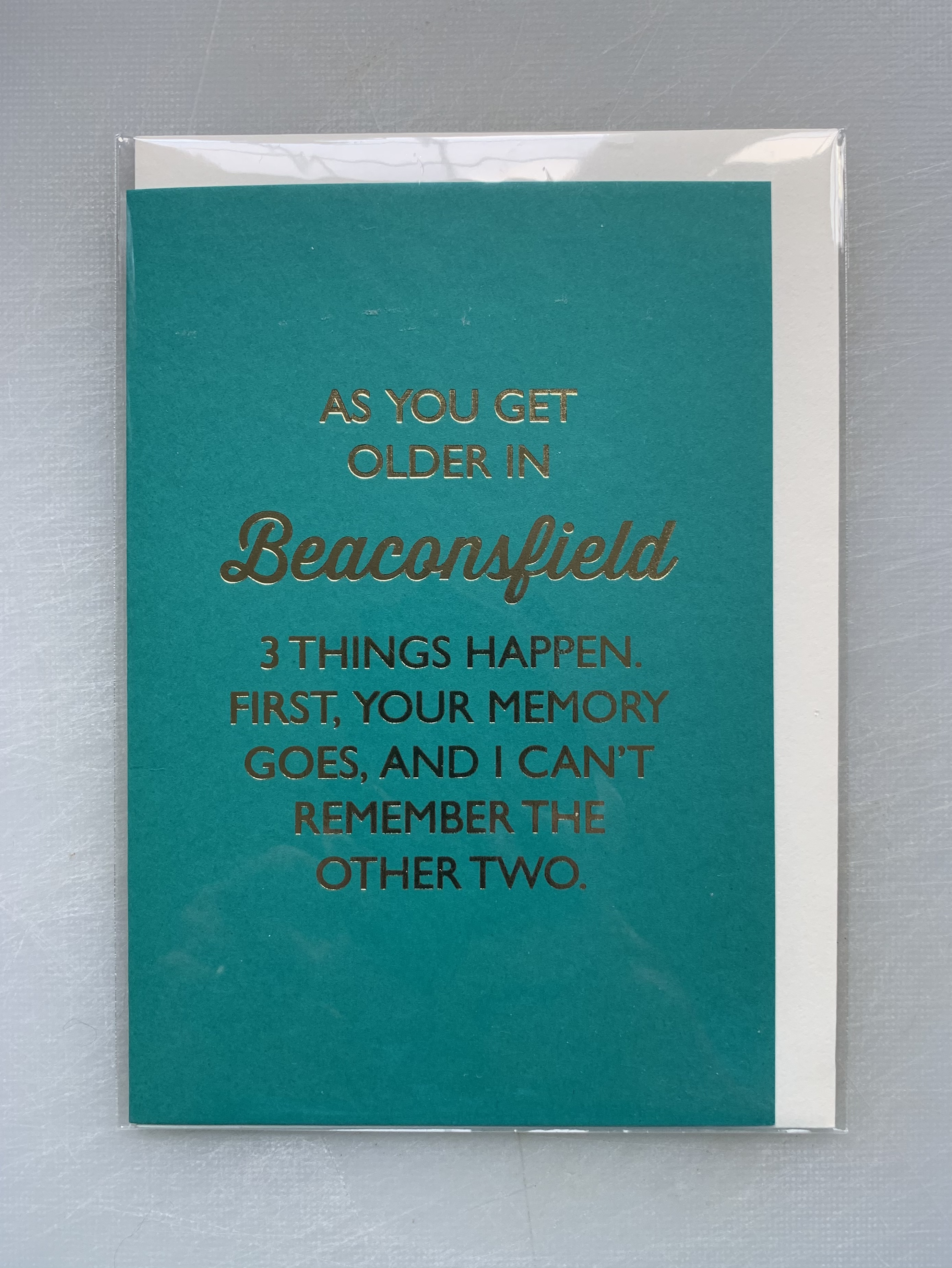 Card Male Bluebell - 3 Things Happen BF D248