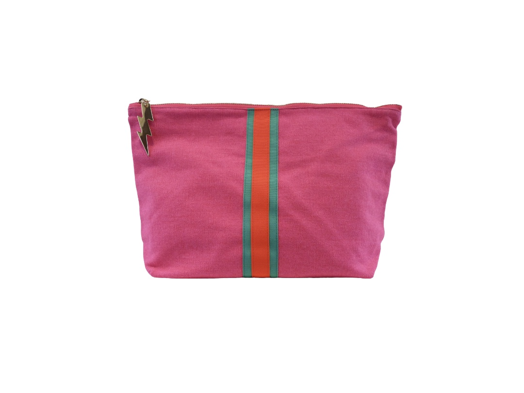 Cockatoo Bag - Lucky Stripe, Hot Pink Large