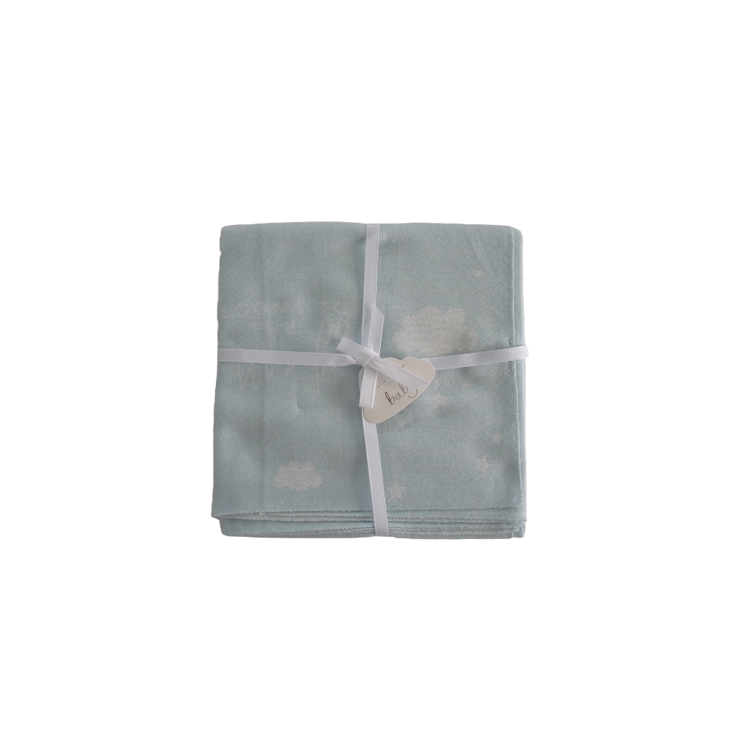 Katie Loxton Baby Blanket - Blue 'Welcome To The World'