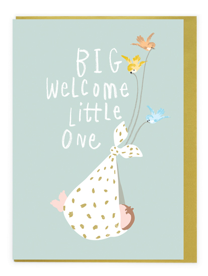 Card Baby Unisex - Big Welcome Little One - Noi AJ019
