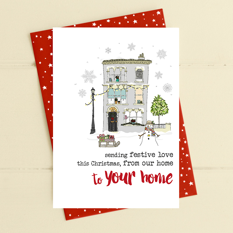 Christmas Card Dandelion - Festive Love Our Home To Your Home FA4132