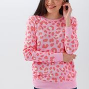 NEW Sugarhill Brighton Callie Sweater  - Candy Leopard Spot Pink