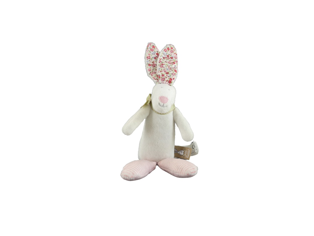 Rufus Rabbit Rattle - Pink