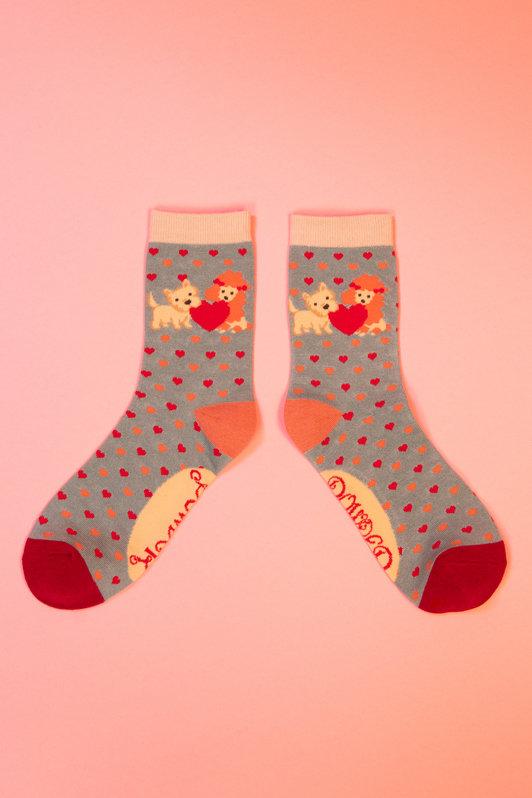 Powder Ankle Socks -  Puppy Love