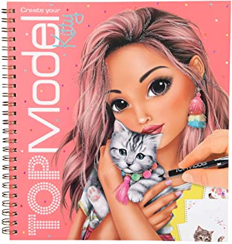 Top Model Kitty Colouring And Sticker Book