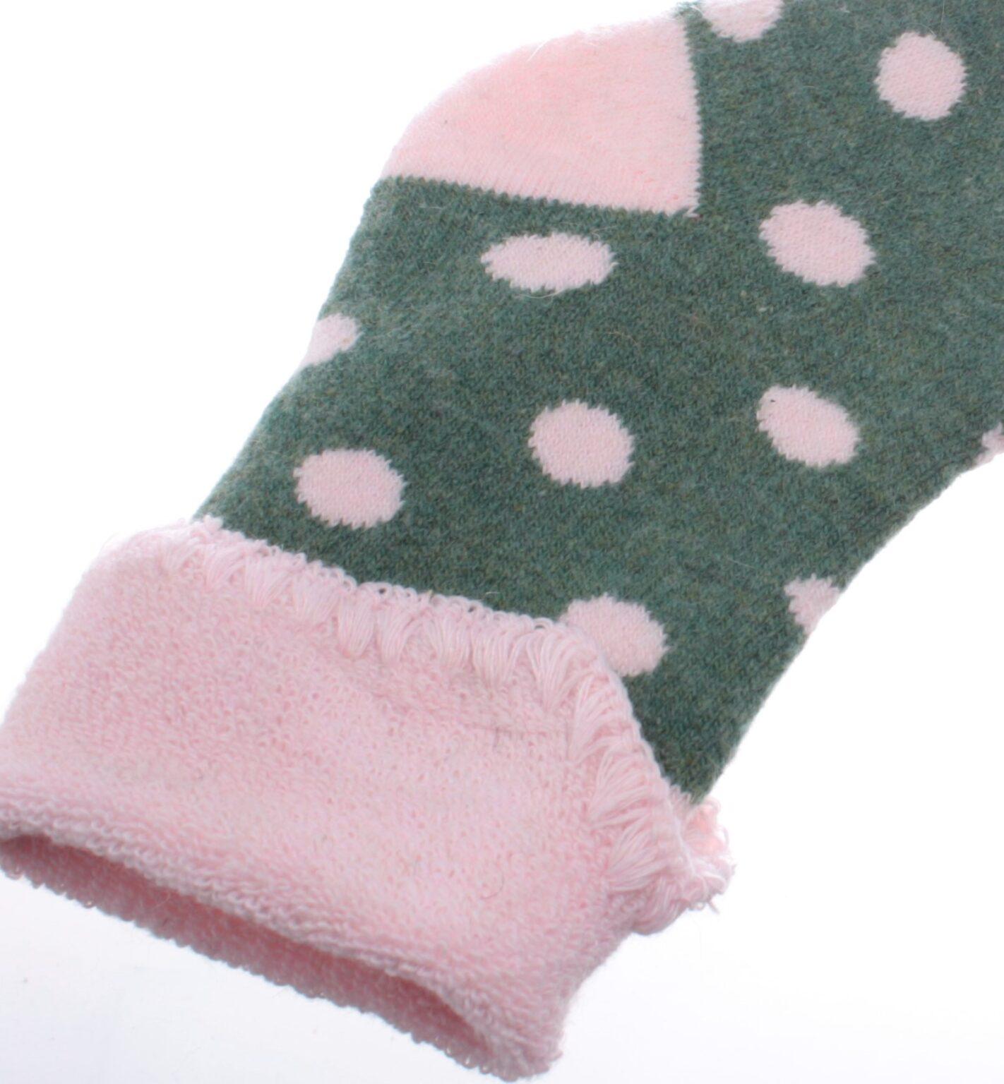 Jess & Lou Socks - Green/Pink Spot