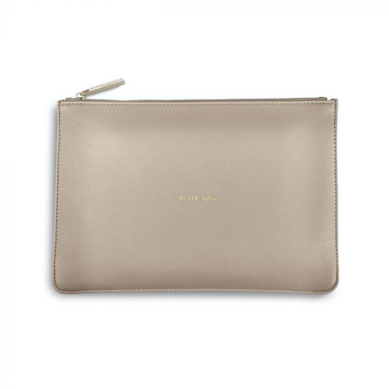 Katie Loxton Perfect Pouch - 'In The bag' Taupe