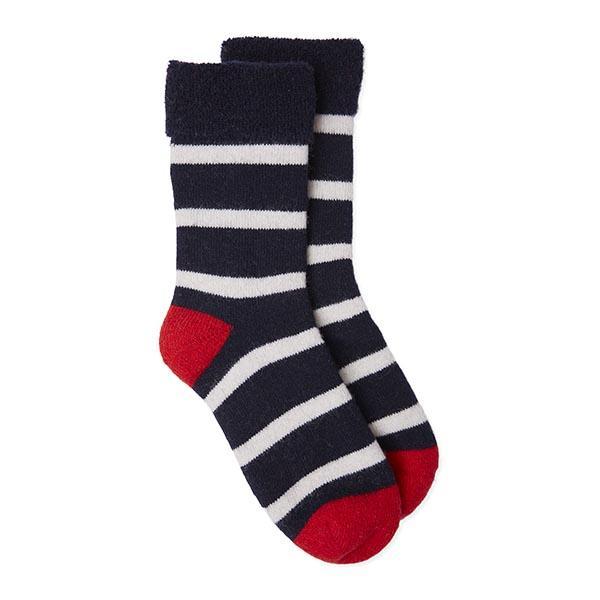 Somerville Slipper Socks - Breton Stripe -Navy/White/Red