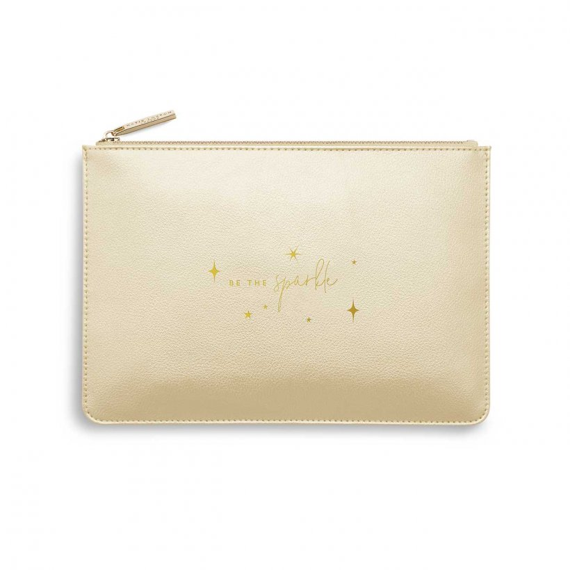 Katie Loxton Perfect Pouch - 'Be The Sparkle' Gold