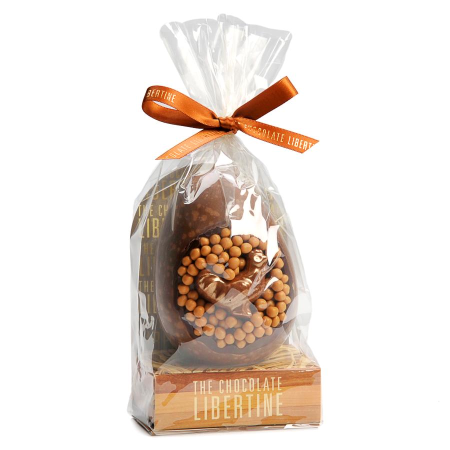 EGGS! The Chocolate Libertine Easter Egg - Dark Chocolate Caramel Crisp egg