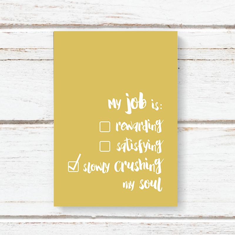 Notebook Jotter Dandelion - My Job is Crushing My Soul 6217