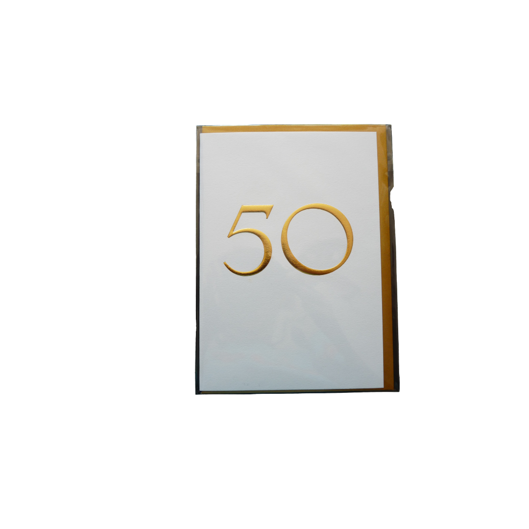 Card Age 50 Female  - Gold + White - Lagom 6122